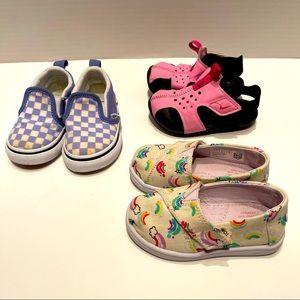 Toms Nike Vans baby toddler girl 5 months
